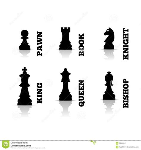 chess figures illustration stock vector image 59639041