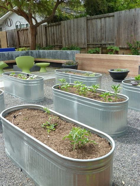 galvanized raised garden bed 25 best ideas about galvanized trough on pinterest