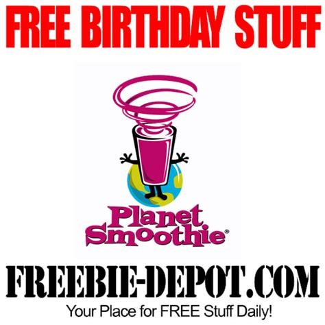 Planet Smoothie Gift Card - free birthday stuff planet smoothie freebie depot