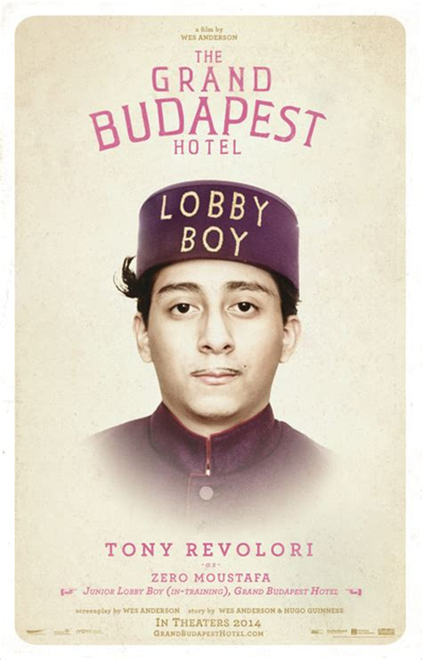 tony revolori grand budapest new the grand budapest hotel posters character posters
