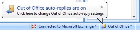 Out Of Office Outlook 2007 by Reminder That Out Of Office Is Still On Msoutlook Info