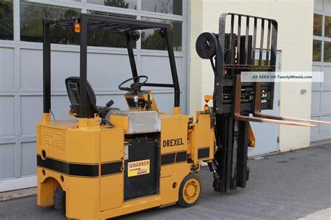 Drexel Swing Mast Electric Forklift 2200 Lbs Cap 36 Volt
