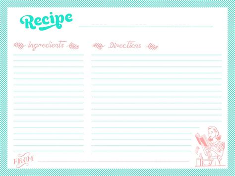 Printable Recipe Cards Online | printable recipe cards martensitak