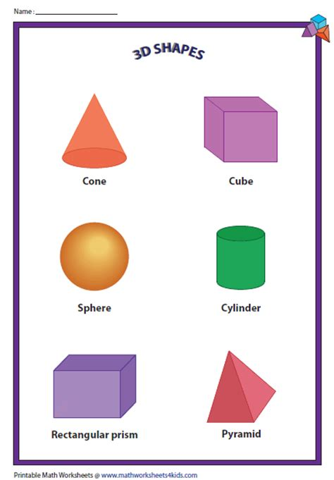 printable math shapes charts 3d shapes charts geom pinterest 3d shapes shape and 3d