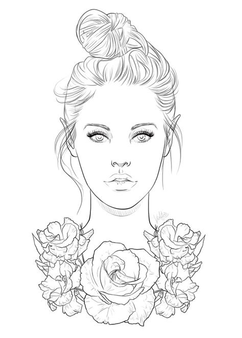 drawing for free free line 01 roses by violetris on deviantart