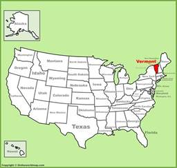 vermont location on the u s map