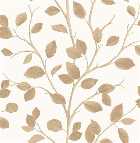 Wallpaper Uk 45cmx10m Silver Leaf woodland gold leaves wallpaper by decor fd40671 ebay