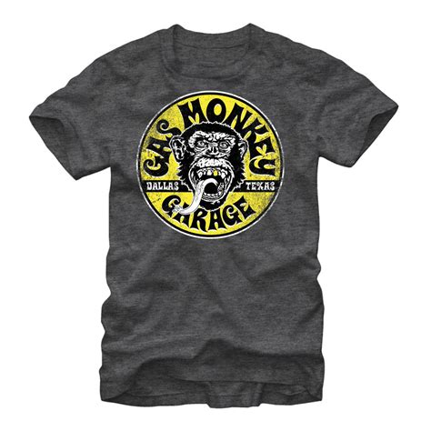 Circle Logo L S T Shirt gas monkey logo circle mens graphic t shirt ebay
