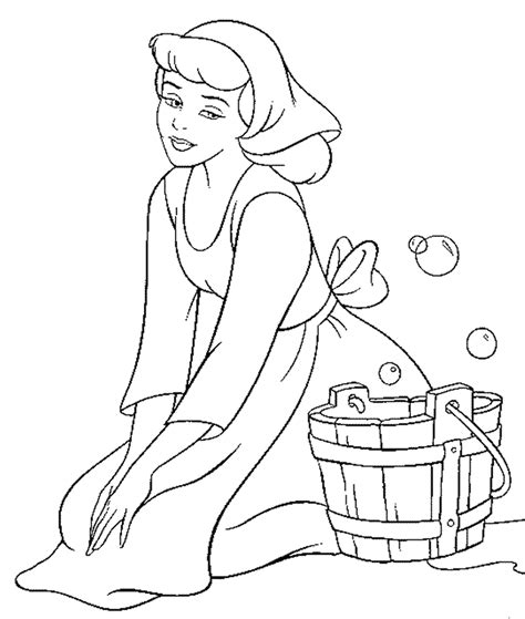 cinderella coloring pages  sun flower pages