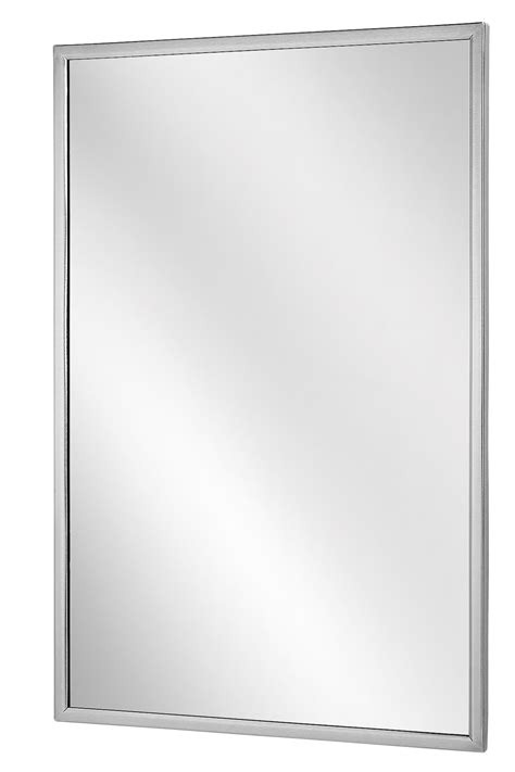 Stainless Steel Angle Frame Mirror 24 Quot X 36 Quot Modern | angle frame mirror bradley corporation