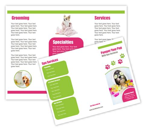grooming flyers template grooming business templates
