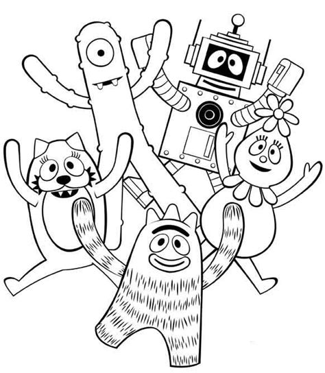 yo gabba gabba coloring pages games 11 best disney mad hatter day 10 6 images on pinterest