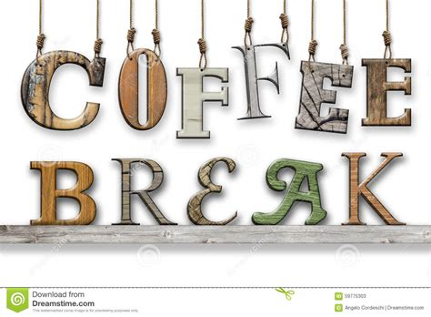 3d text coffee wood texture letters hung and