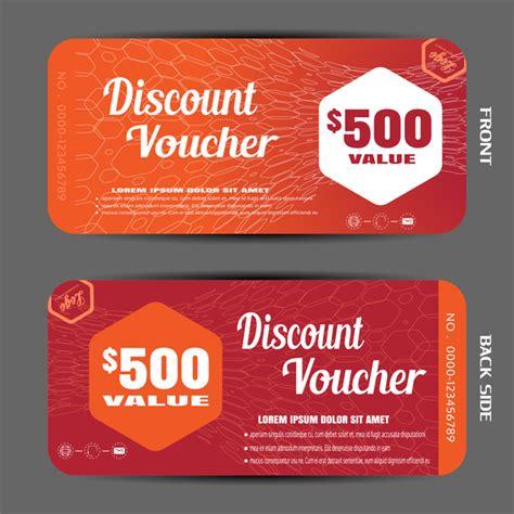 modern discount voucher template vector 05 vector label