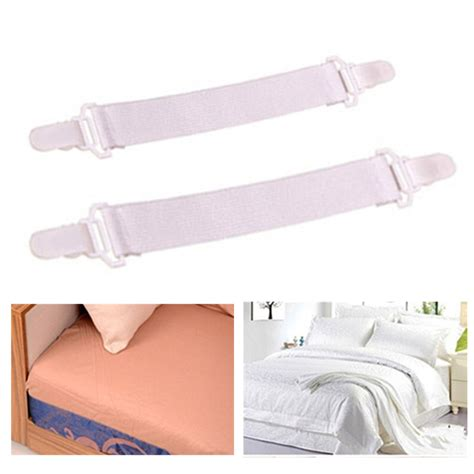 bed sheet holders 4pcs lot white color bed sheet fasteners elastic bed sheet
