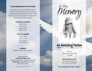 Funeral Program Template Microsoft Word by 11x17 Heavenly Dove Printable Funeral Program