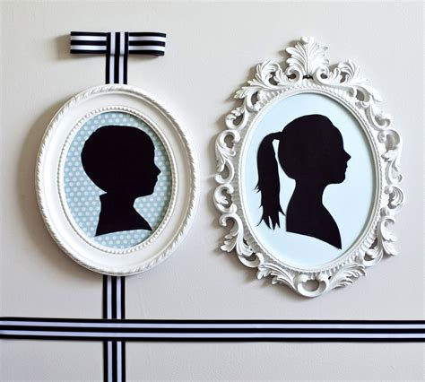 diy silhouette diy simple silhouettes