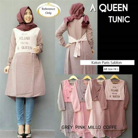 desain baju queen baju atasan panjang fashion hijab terbaru quot queen tunik quot modis