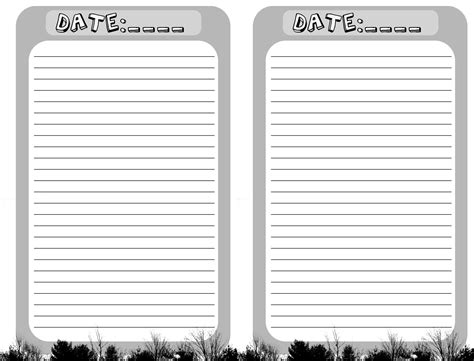 printable blank journal pages blank journal pages printable for you new added