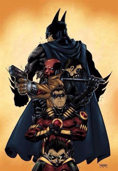 red hood tattoo batman nightwing and robin batman family