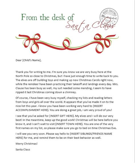 on the shelf letter from santa template 25 best letter from santa ideas on