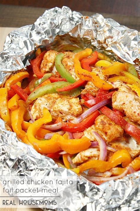 chicken fajita foil packet meal recipe foil packet meals grilling and meals