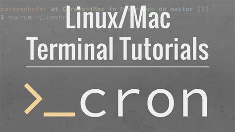 tutorial cron linux linux mac tutorial cron jobs how to schedule commands