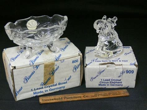 princess house crystal catalog princess house crystal bowl figurine with boxes