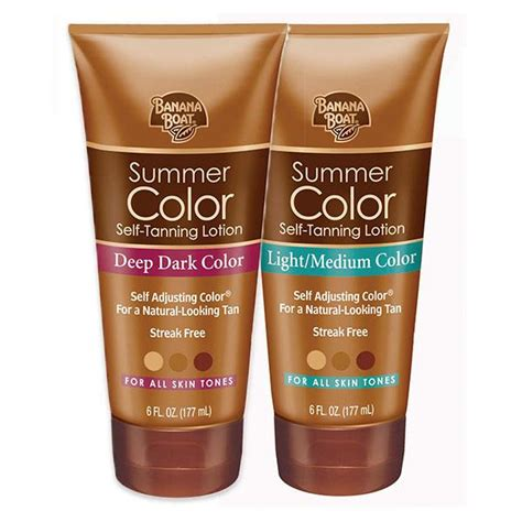 banana boat summer color banana boat self tanning lotion light medium