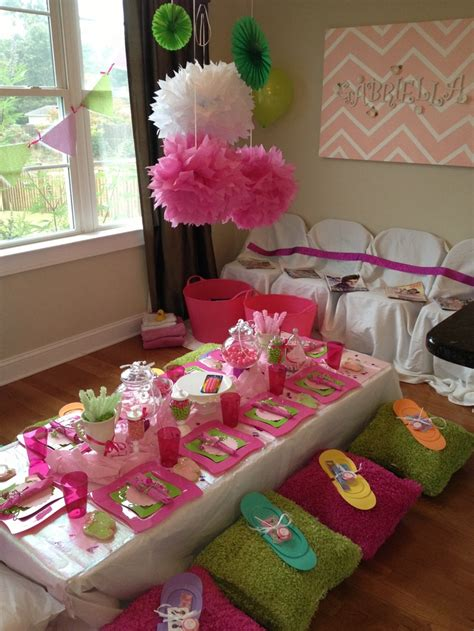 themes for little girl parties spa party ideas for girls my daughters spa party