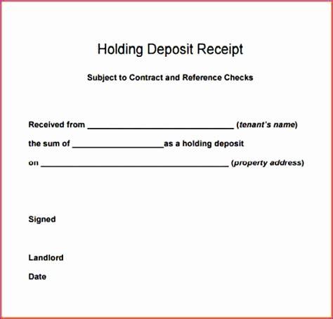 Deposit Receipt Template Excel by 9 Rental Receipt Template Excel Exceltemplates
