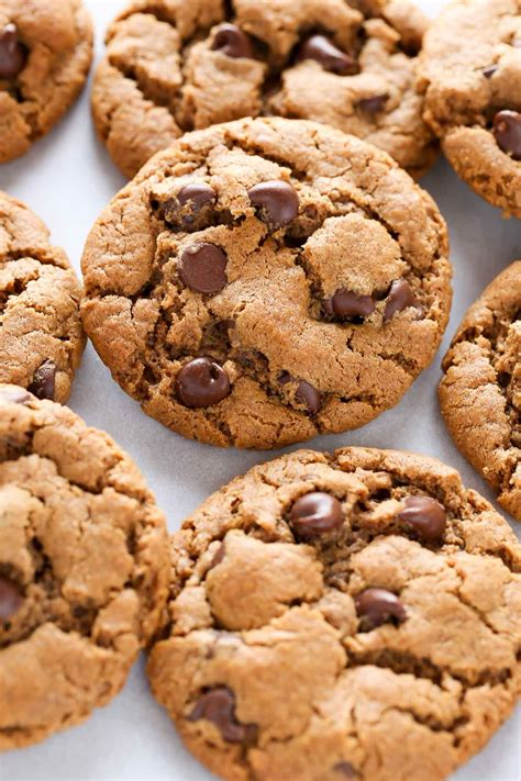 desserts cookies easy flourless almond butter chocolate chip cookies