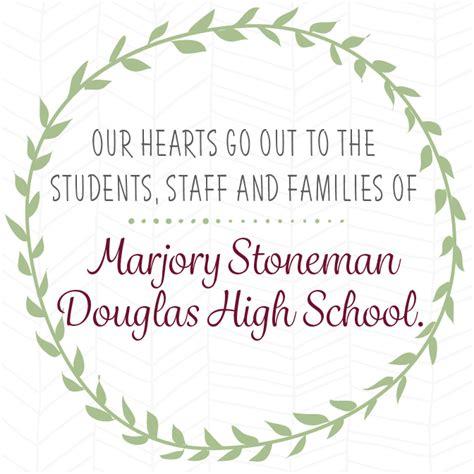 comfort high school address sending comfort to marjory stoneman douglas high school