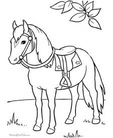 horses to color coloring pages of to print 015
