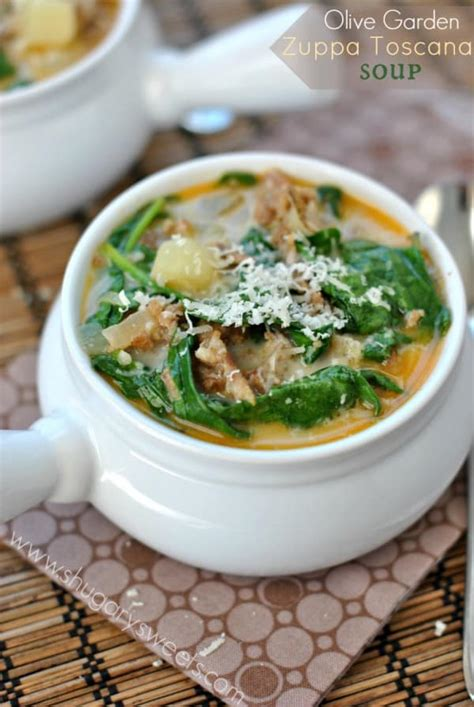 Recipe For Olive Garden Soup by Zuppa Tuscana Soup Shugary