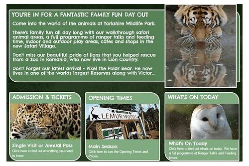 deals yorkshire wildlife park