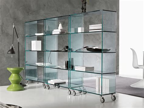 Ready Assembled Kitchen Cabinets by Nella Vetrina Tonelli Libreria Contemporary Italian Glass