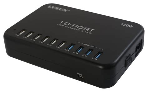 ls with outlets and usb ls 10u24f hub usb intelligent charger 10 port 120w hub