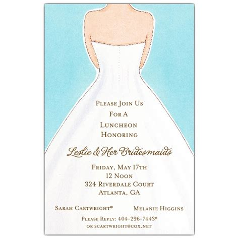 invitations for bridal luncheon here comes the luncheon invitations paperstyle