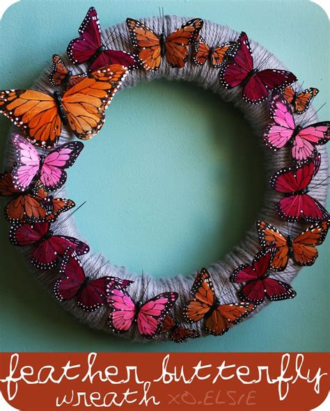 spring butterfly wreath artificialchristmaswreaths com feather butterfly wreath diy a beautiful mess