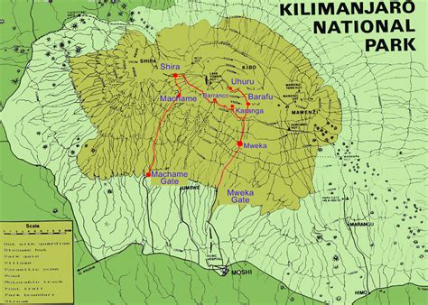 mt kilimanjaro map mount kilimanjaro the mountain and safe guide to climb it traveldigg