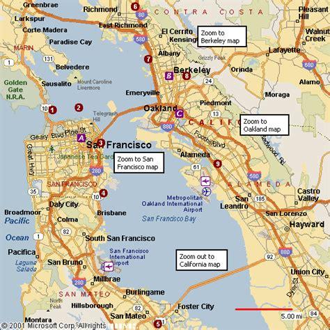 san jose to oakland map oakland vs san francisco map