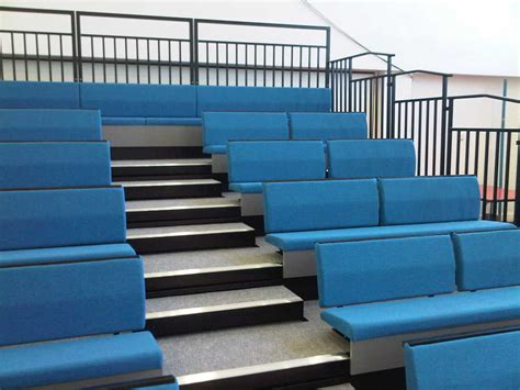 bench club club bench retractable bleacher auditorium seating