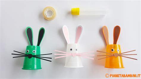 Ladario Con Bicchieri Di Plastica - lavoretti di pasqua coniglietti con i bicchieri di