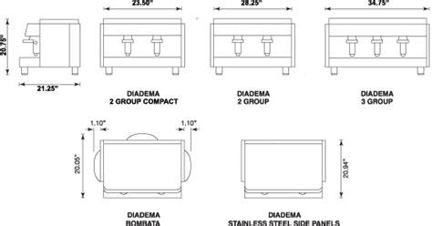 Floor Plan Maker Espresso Machine Diadema 3 Group Espresso Coffee Maker