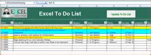 Excel To Do List Template by 8 Excel To Do List Template Bookletemplate Org