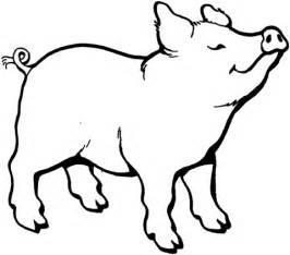 disegno maiale che ha annusato qualcosa da colorare disegni da colorare stampare gratis