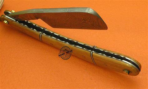 custom handmade damascus razor barber