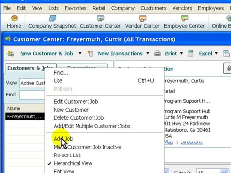 quickbooks retail tutorial quickbooks add job gt quickbooks customers gt gt quickbooks