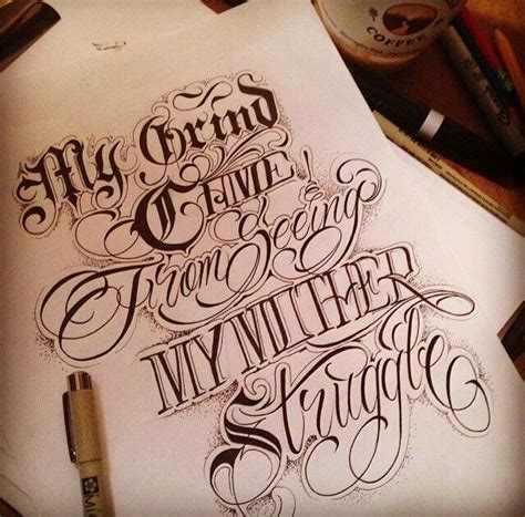 tattoo lettering designs script my grind chicano pride chicano and
